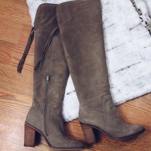 Franco Sarto Over-the-Knee Suede Boots